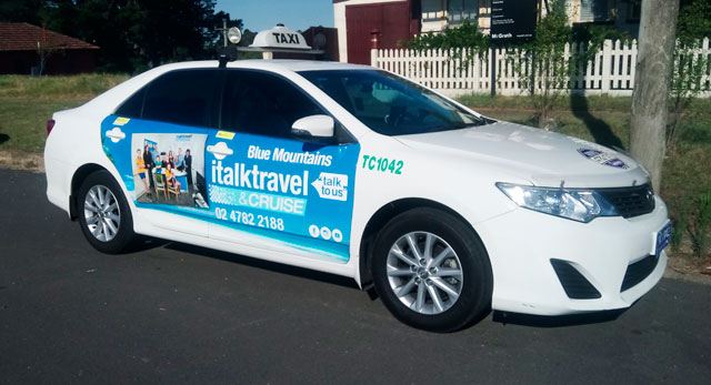 Katoomba Taxis Advertising